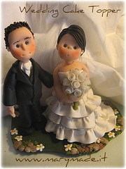 Wedding Cake Topper (marytempesta) Tags: polymerclay brides weddings grooms brideandgroom polymer caketoppers patepolymre