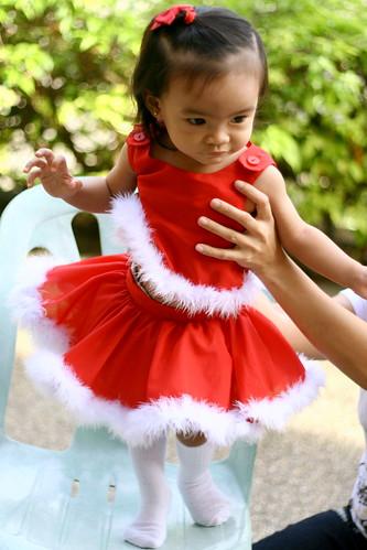 dancing in her Santa tutu