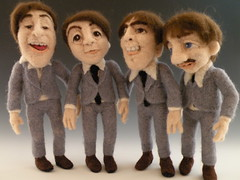 ladies and gentlemen...The Beatles! (feltalive) Tags: wool alaska felted felting needle beatles needlefelting valleyofthedolls fffriends feltalive nfestteam kaypetal needlefelte