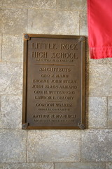 Little Rock Central High School Architects Plaque