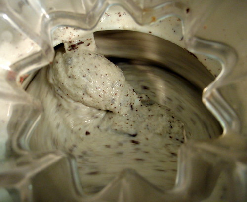 Peppermint ice cream with dark chocolate flecks