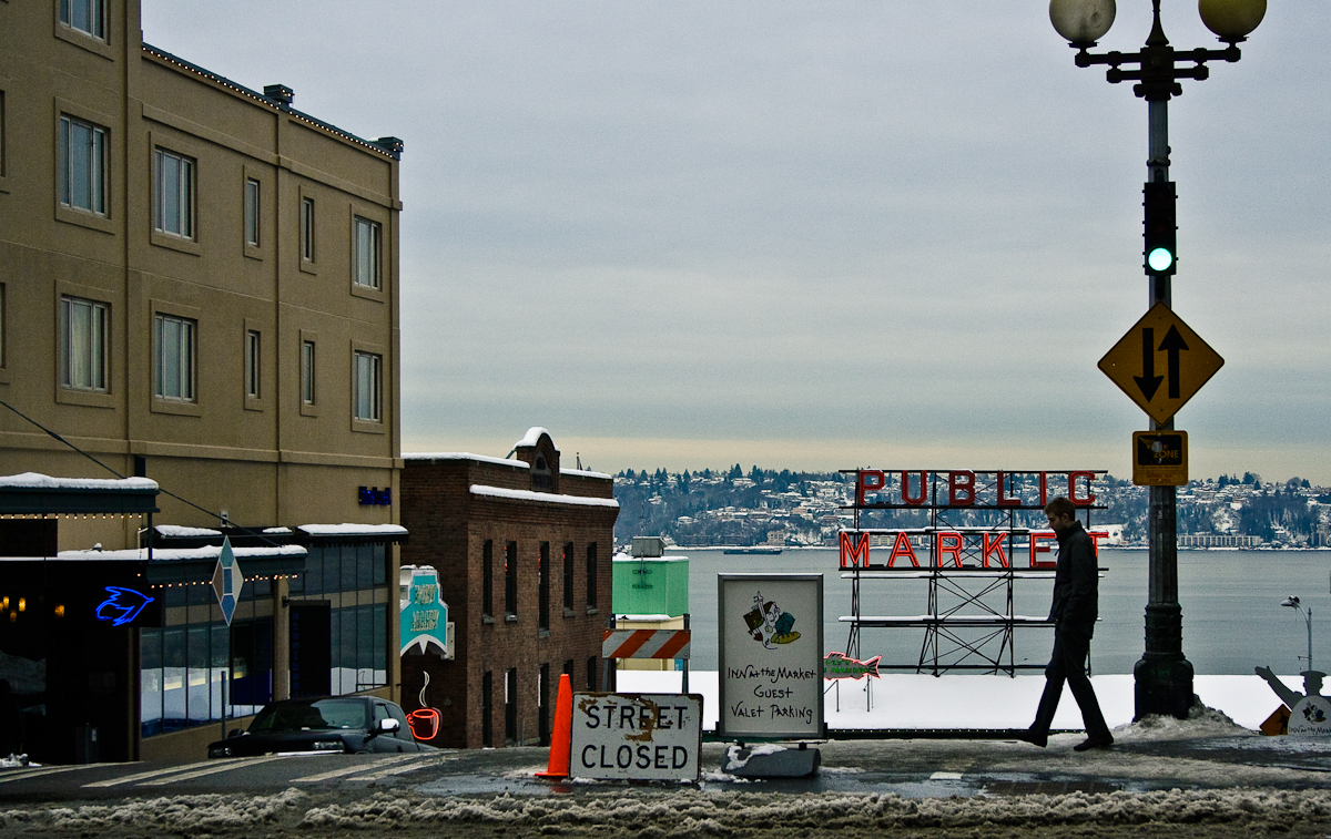pike place snow