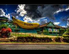 Storm clouds over the Big Banana ([ Kane ]) Tags: blue sky storm clouds big banana explore nsw kane bigbanana hdr coffs coffsharbour gledhill kanegledhill kanegledhillphotography