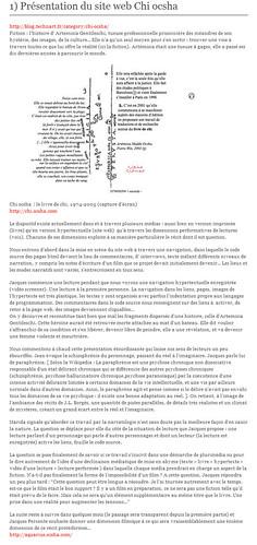 Luc Dall'Armellina, Hypertexte, présentation Chi Ocsha