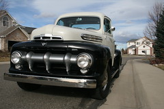 1951 Ford Pickup (Let Ideas Compete) Tags: street old usa classic ford america truck vintage lights us colorado lafayette head united pickup headlights neighborhood landing sidewalk bumper chrome co restored essence states grille oldtruck 1951 waneka wanekalanding