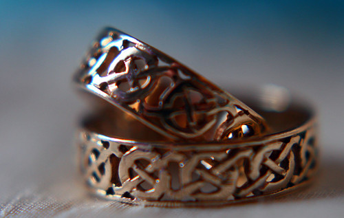 celtic wedding rings  by apdk
