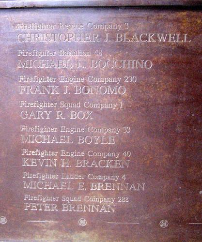 Fdny 9 11. FDNY 9/11 Memorial Wall