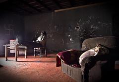Relax, don't do it (Funky64 (www.lucarossato.com)) Tags: relax cool chair room io riposo castello sedia freddo stanza moquette abbandono svastica degrado abigfave lucarossato funky64