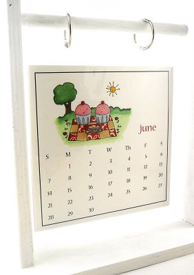 Hanging Calendar Made with Cakespy Stamps