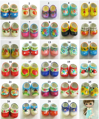Clog shoes for Blythe LOT11 by Thaifabshop1