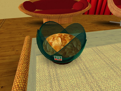 Virtueller Verzehrprozess / virtuelle Snackschale