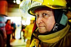 Firefighter (Benoit.P) Tags: portrait yellow jaune canon rouge dof montréal benoit mtl bokeh strangers vivid stranger 5d 24mm troisrivieres f18 firefighter mauricie pompier feu tr paille caserne troisrivières benoitp benoitpaille