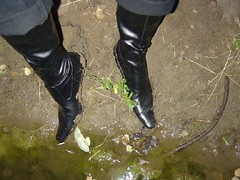 river47 (its_a_boot_time) Tags: wet boots messy heels muddy