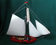 "Pirate ship ""Little Marie"" (lego addict) Tags: ship lego pirates pirate cannon sailingship legopirates"