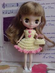 """Petite Blythe Crochet Dress """"Valentine Time"""" (to Canada)"""