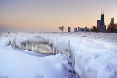Lakefront Icicles (rjseg1) Tags: sunset chicago skyline lakemichigan icicle hancock lakefront segal rjseg1