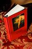 hardcover book - Perfume (mezzaluna) Tags: red brown book perfume handboundbook bookbinding hardcover parfum handbound litarature patricksüskind perfumethestoryofamurderer dasparfumgeschichteeinesmörders