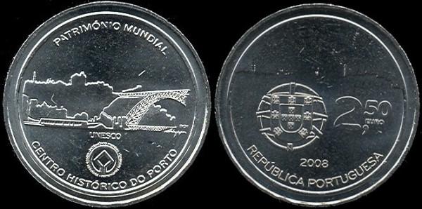 2.5 euro Portugalsko 2008, UNESCO - Porto
