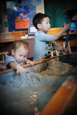 sand & water exhibit