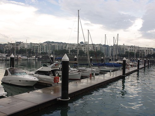 A row of yachts @ the parking berths