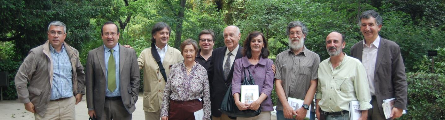 Ecólogos en el acto de Gonzalez Bernáldez