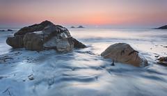 Twins (Joe Rainbow) Tags: ocean sea water landscape rocks cornwall waves ripples stjust nanven