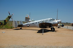 "Beech UC-45J ""Expeditor"" (radargeek) Tags: museum plane edwardsafb beech expeditor uc45j"