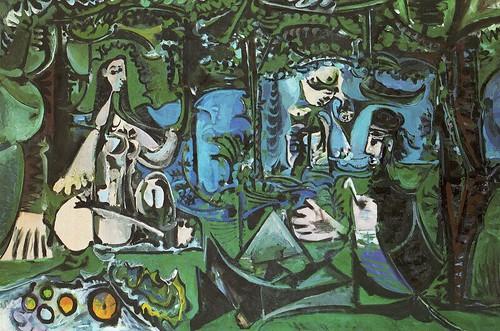 畢卡索-草地上的野餐