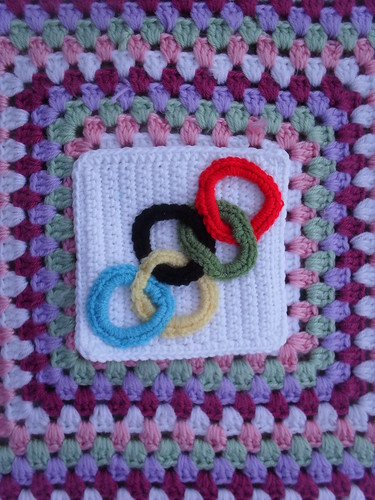 Luna has sent a Square for our 'Olympics Blanket'. The Olympic Circles!