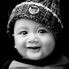 Smile... (wazari) Tags: boy fab portrait blackandwhite baby monochrome smile face kids pose children bigeyes eyes nikon asia child emotion expression posing son myson malaysia emotional anakku melayu malay wajah anak potret 50mmlens nikond200 bwdreams availablelightphotography naturallightphotography anakkecil golddragon iloveblackandwhite malaysiaphotographer mywinners hitamputih haiqal platinumphoto theunforgettablepictures betterthangood wazari happinessconservancy goldstaraward expressi aseankids