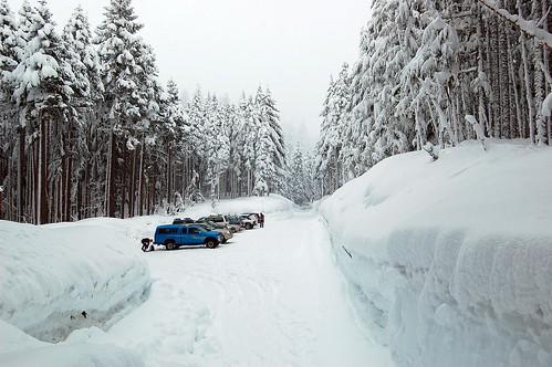 Walls of snow