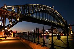 Blue Hour Bridge (Xenedis) Tags: sydneyharbourbridge bridge twilight dusk sydneyharbour dawespoint bluehour sydney night evening newsouthwales nsw australia ig