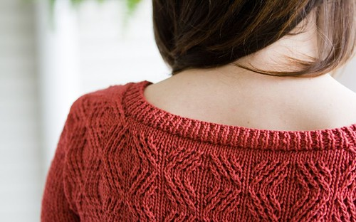 Cardigan - Back/Neckline Detail