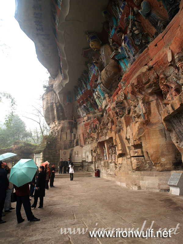 Tour Groups viewing the rock carvings