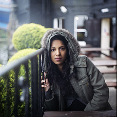 Sadia (Marmoladka) Tags: woman london 6x6 film portraits mediumformat cafes 120mm sadia filmportrait aleksandrawinnik marmoladka