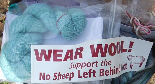 Wear Wool bumper sticker