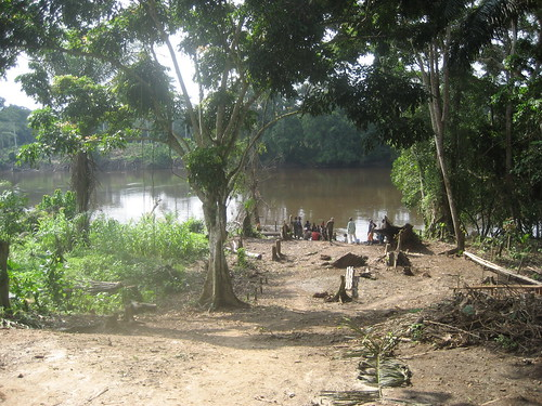 The dugout dock in Obenge