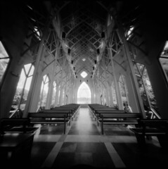 UF Baughman Meditation Center (alternatePhotography) Tags: bw film holga exposure fuji florida gainesville pinhole diafine neopan 100 nocrop 30s acros pinholga