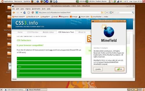 Le test de compatibilité des sélecteurs CSS3 est réussi à 100%