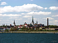 A view on Tallinns old town from the sea.