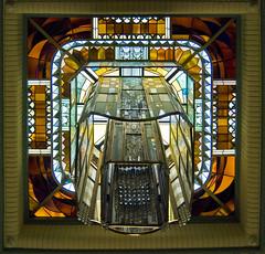 Reims - Carnegie Library skylight (Tiz_herself) Tags: windows france libraries stainedglass artdeco reims bibliothèques bibliothèquecarnegie