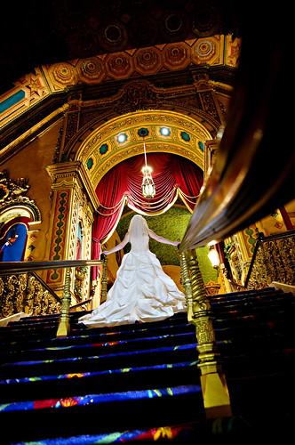 [フリー画像] 人物, 女性, イベント・行事, 結婚式, 後ろ姿, ウエディングドレス, 200807151200