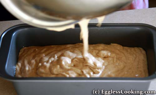Almond Butter Bread: Pour Batter To Pan