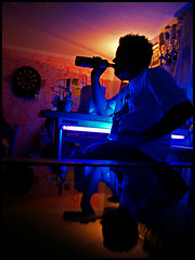 GregK (marcotuerr) Tags: beer blacklight