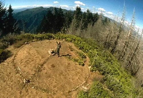 Lou in Bald Mountain Prayer Circle