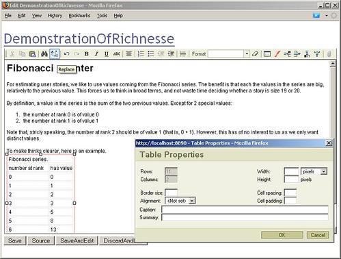 FitNesse with RichNesse WYSIWYG Editor
