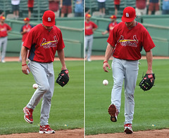 hackey-baseball? (Boston Wolverine) Tags: game boston composite ball diptych baseball kick fenway bp pregame cardinals mlb hackeysack stlouiscardinals 70300mmf456 brendanryan