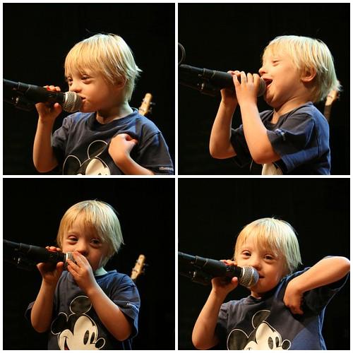 Gabriel on stage