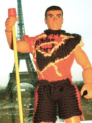 Ribby Man visits the Eiffel Tower