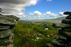 Deserted Village 2 (Tommy Mulligan) Tags: old ireland sea summer sky sun holiday colour building history stone clouds landscape island scenery sheep postcard cottage ruin stunning mayo unusual holliday past achill shepard beautifull wonderfull georgous